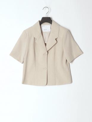 ベージュ tailored jacket &pleats skirtを見る