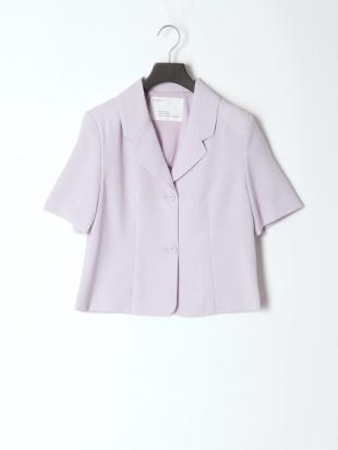 ライトパープル tailored jacket &pleats skirtを見る