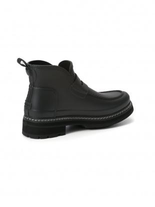 ブラック W REFINED ステッチ ローファー ブーツを見る