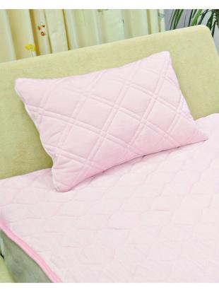 ピンク フィールクール 中綿入り 接触冷感枕パッド 45×65cm ピンクを見る