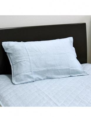 ブルー フランスリネン 麻枕カバー 45×65cm ブルーを見る