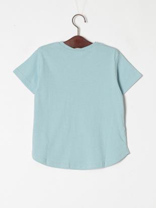 サックス 半袖ロゴTシャツを見る
