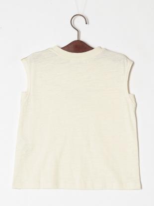 オフホワイト フレンチスリーブロゴTシャツを見る