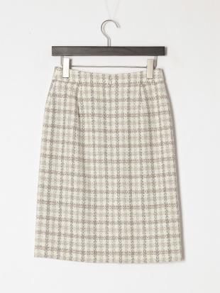 エクリュ ミックスバスケット(無地・チェック) スカートを見る