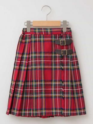 レッド [100-130]チェックプリーツスカート[WEB限定サイズ] a.v.v bout de chouを見る