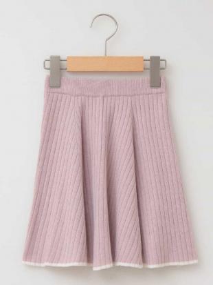 ピンク [100-130]ニットフレアスカート[WEB限定サイズ] a.v.v bout de chouを見る