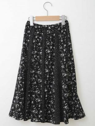 ブラック [100-130]フラワードットドッキングスカート[WEB限定サイズ] a.v.v bout de chouを見る