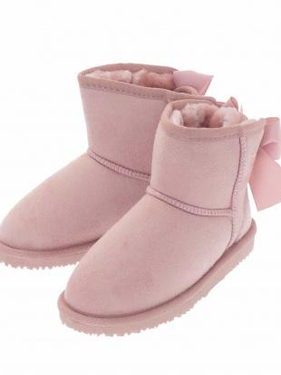 ピンク [KIDS]【大好評につき今年も登場!】リボン付ムートン風ブーツ[WEB限定サイズ] a.v.v bout de chouを見る