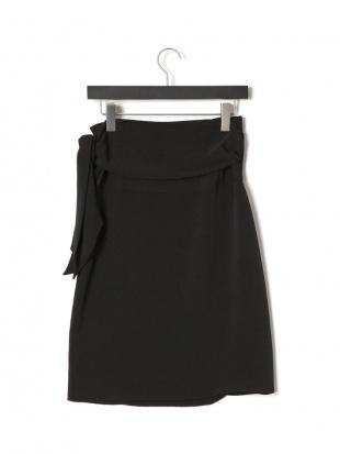 ブラック LESLEY サイドノット ラップスカートを見る