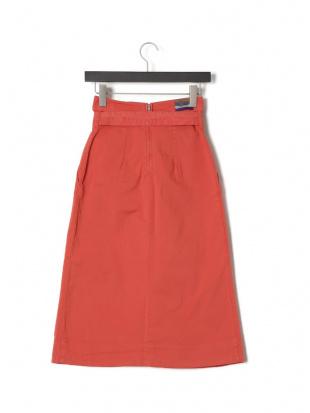 レッド LORIANA ベルト付 スカートを見る