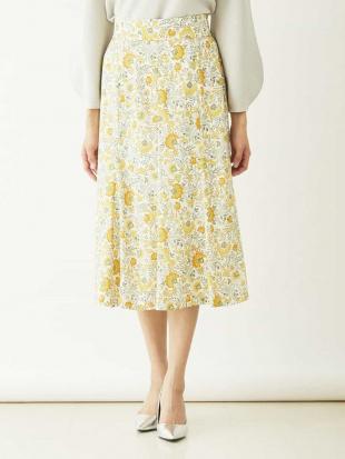 ライトイエロー 【セットアップ対応/洗える】オリジナルフラワープリントマーメイドスカート MICHEL KLEINを見る