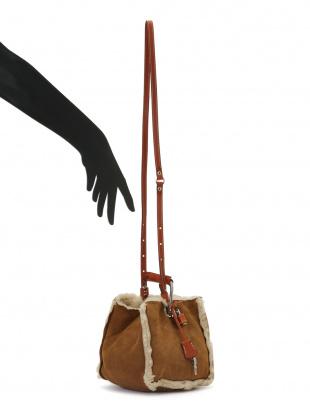ベージュ リバーシブル 2WAYバッグを見る