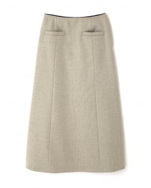 キナリ×ネイビー1 ◆リネンボンディングスカート ヒューマン ウーマンを見る