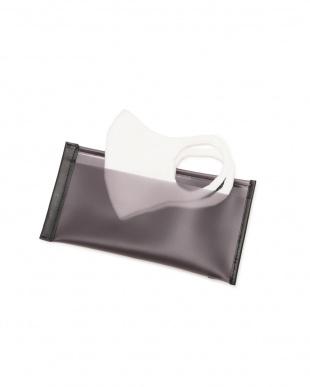 ブラック PVC二つ折りマスクケース ヒューマン ウーマンを見る