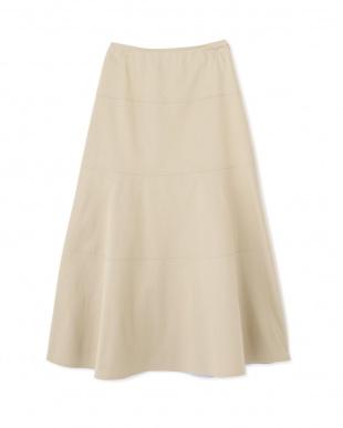 ベージュ ◆≪arrive 5e≫綿麻スラブサテンスカート ヒューマン ウーマンを見る