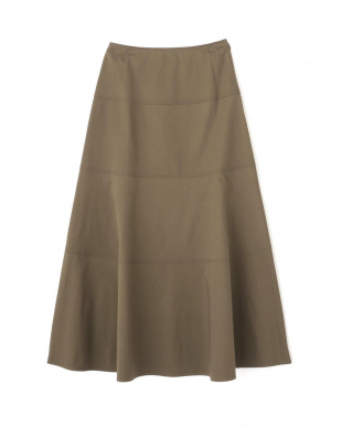 カーキ ◆≪arrive 5e≫綿麻スラブサテンスカート ヒューマン ウーマンを見る