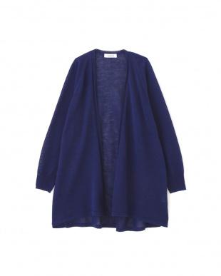 ブルー ◆ラミーハイゲージロング丈羽織 ヒューマン ウーマンを見る