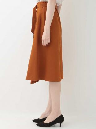ブラウン(テラコッタ) 【洗濯機で洗える】ラップ風スカート OFUONを見る