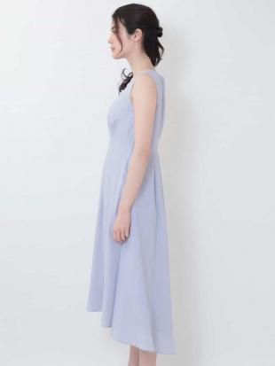 ピンク ネックレス付きタックデザインドレス OFUONを見る
