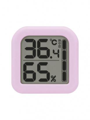 デジタル温湿度計 モルモ パープル 3個セットを見る