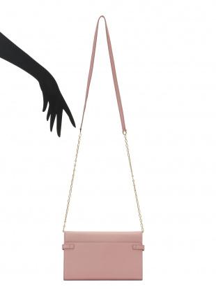 アンティークピンク チェーンストラップ付 ウォレットバッグを見る