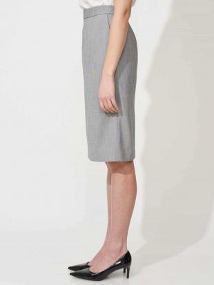 グレー 【セットアップ対応/洗える】ピンチェックタイトスカート MICHEL KLEINを見る