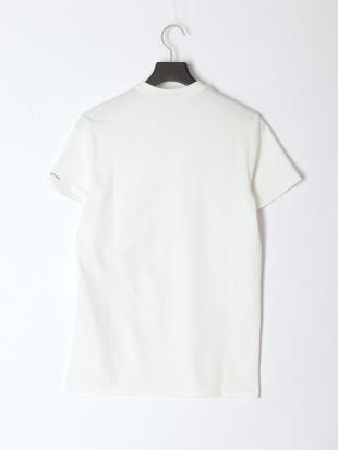 WHITE メンズ Vネックワンポイント半袖Teeを見る