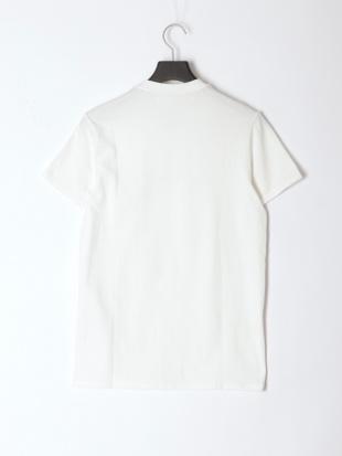 WHITE メンズ Vネックシンプルロゴ半袖Teeを見る