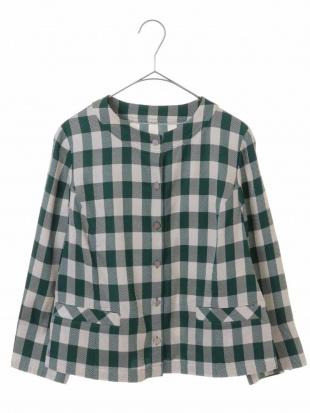 グリーン 【日本製】リオペルギンガムジャケット CHRISTIAN AUJARD Sサイズを見る