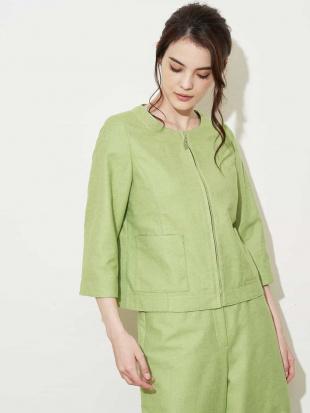 グリーン シャンブレーツイードジャケット CHRISTIAN AUJARD Sサイズを見る