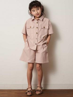 ピンク [140-150]【洗える】サファリシャツ a.v.v bout de chouを見る