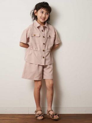ピンク [100-130]【洗える】サファリシャツ[WEB限定サイズ] a.v.v bout de chouを見る