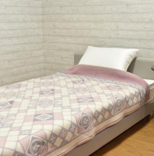 ピンク デザイン ウール毛布シングル ピンクを見る