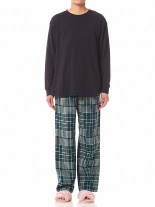 グリーン 20クラビオンチェックパジャマを見る