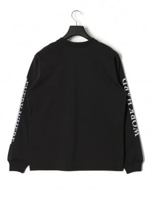 ブラック ワーク プリント 長袖Tシャツを見る
