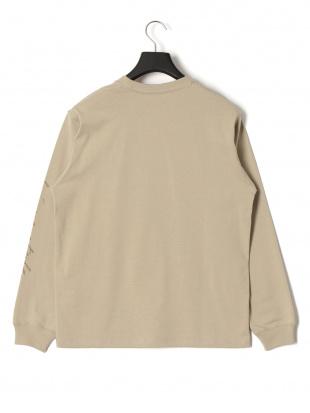 ベージュ アフリーク プリント 長袖Tシャツを見る