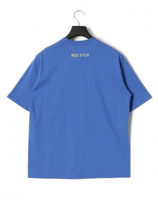 ブルー ベッドスタイ プリント 半袖Tシャツを見る