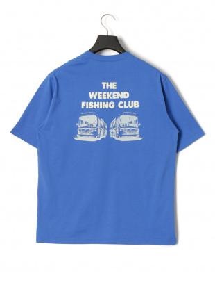 ブルー フィッシングクラブ プリント 半袖Tシャツを見る