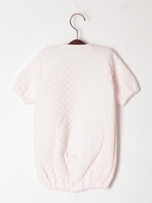 ピンク パイルキルトコンビドレスを見る