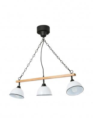 WHITE GENDER WOOD ROD 3BULB PENDANT LAMPを見る