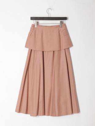 ピンク レイヤード2WAYフレアスカートを見る
