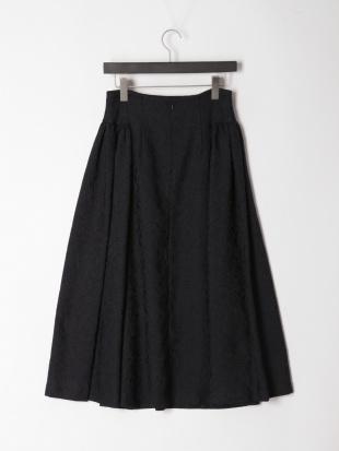 ネイビー ペイズリージャカード スカートを見る