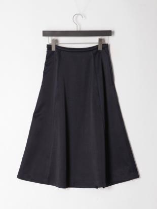ネイビー サテンドレープスカートを見る