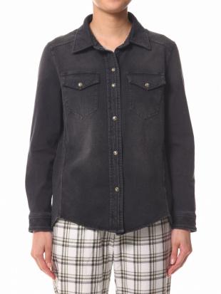 97/無彩色H(チャコール) AN カジュアルニットデニムシャツを見る