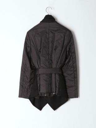 ブラック 中綿入りショートジャケットを見る
