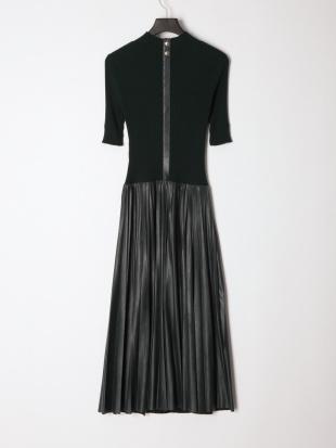 グリーン [La maglia]プリーツコンビニットドレスを見る