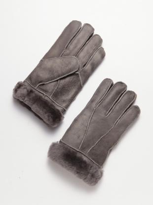 グレー ムートン手袋を見る