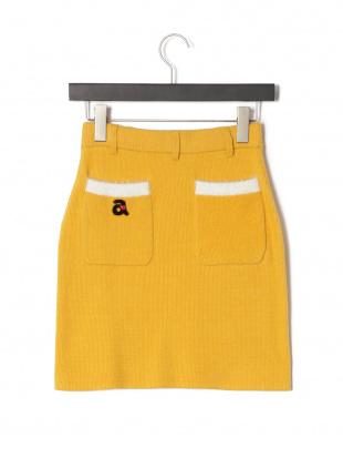 イエロー ポケット ニットスカートを見る