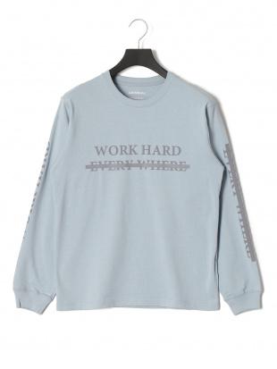 サックス ワーク プリント 長袖Tシャツを見る
