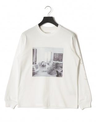 ホワイト アフリーク プリント 長袖Tシャツを見る